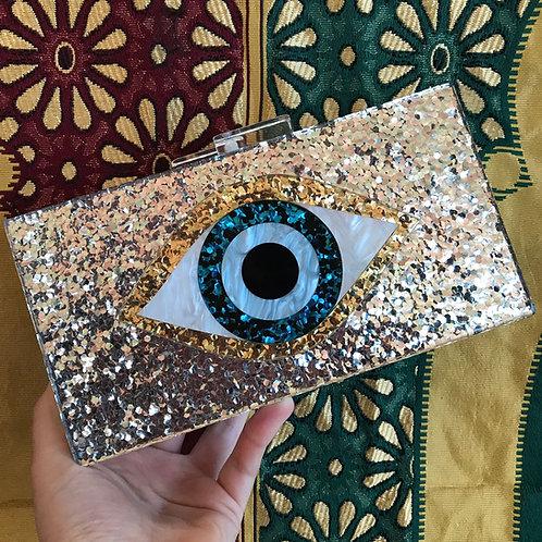Acrylic Evil Eye Clutch
