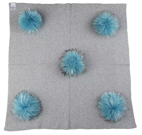 Pom Pom Stroller Blanket: Designed by Talia Ben Yehuda