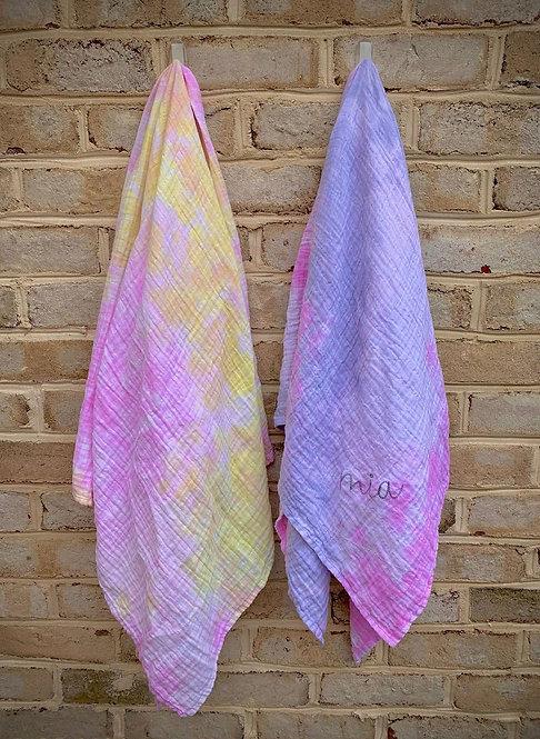 Tie Dye Summer Blanket: Designed by Jasmin Kashimallak