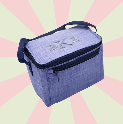 Embroidered Lunch Box: Designed by Alexa Khojahiny