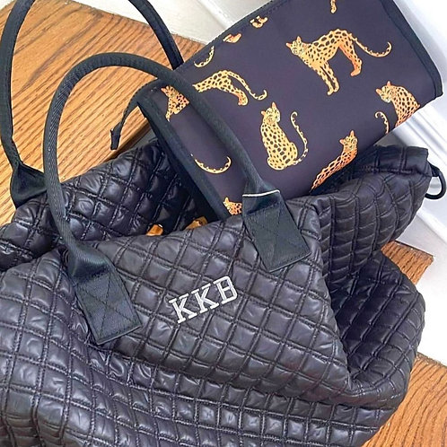 Custom Quilted Duffle Bag: Designed by Alexa Khojahiny