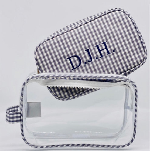 Clear Gingham Duo: Designed by Brenda Loloi