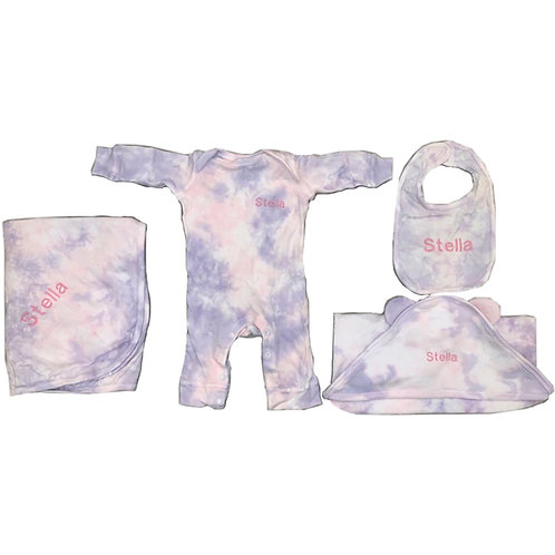 Tie Dye Baby Gift Set: Designed by @melynahakimian