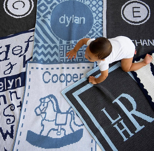 Custom Acrylic Blanket: Designed by Tanya Ebrani