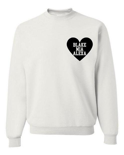 Heart Decal Sweatshirt | Adult