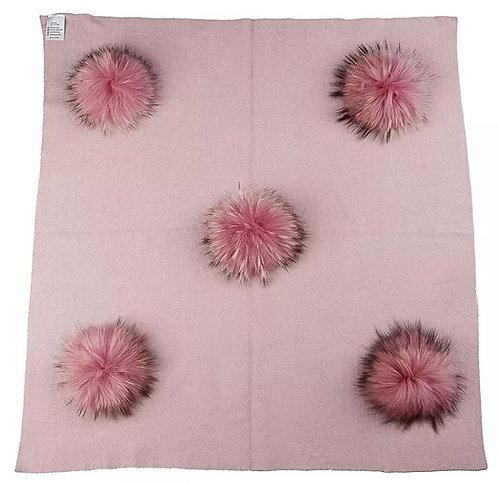 Pom Pom Stroller Blanket: Designed by Debbie Ebrani