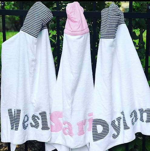 Hooded Towel: Designed by @yaeldilamani