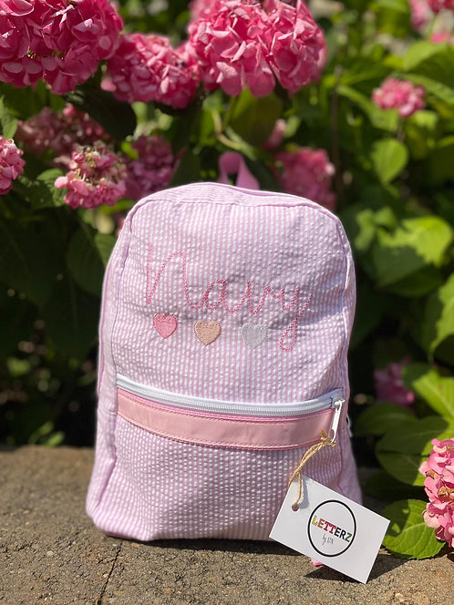Embroidered Backpack: Designed by Alexa Khojahiny