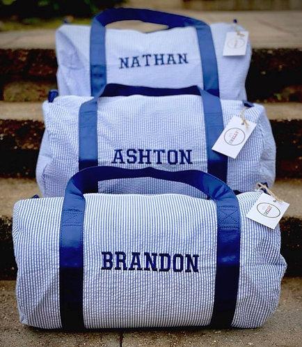 Embroidered Duffle Bag: Designed by Kelley Nitzani