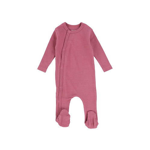 copy of Ribbed Snap Front Footie