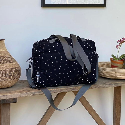 Embroidered Diaper Bag: Designed by Jasmine Cohen