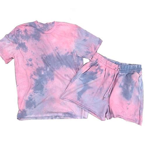 Size M/6 Tie Dye Shorts Set