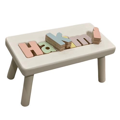 Puzzle Step Stool: Designed by Kelley Nitzani