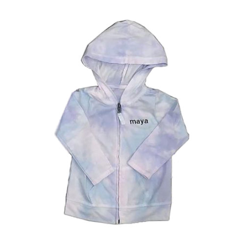 Tie Dye Zip-Up Sweatshirt: Designed by Stephanie Aziz
