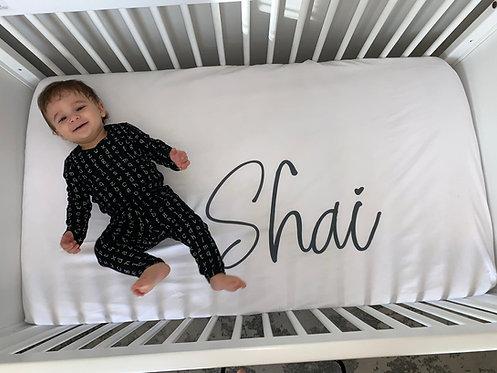 Custom Crib Sheet: Designed by Jennifer Kordvani