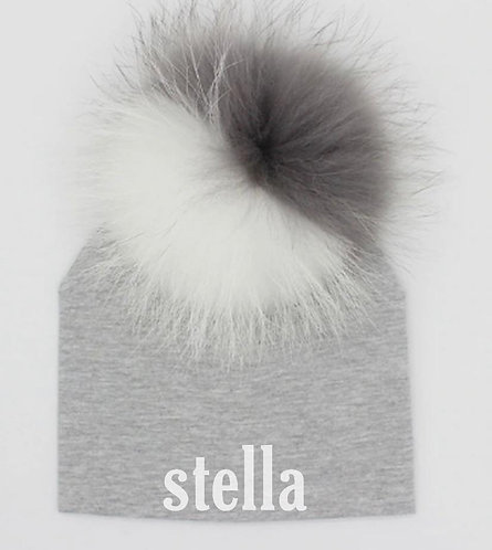 Pom Pom Hat with Name: Designed by @melynahakimian