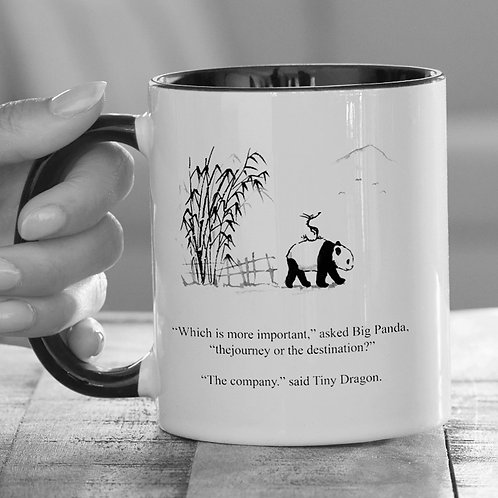 Big Panda & Tiny Dragon 'Company' Mug (Free Shipping)