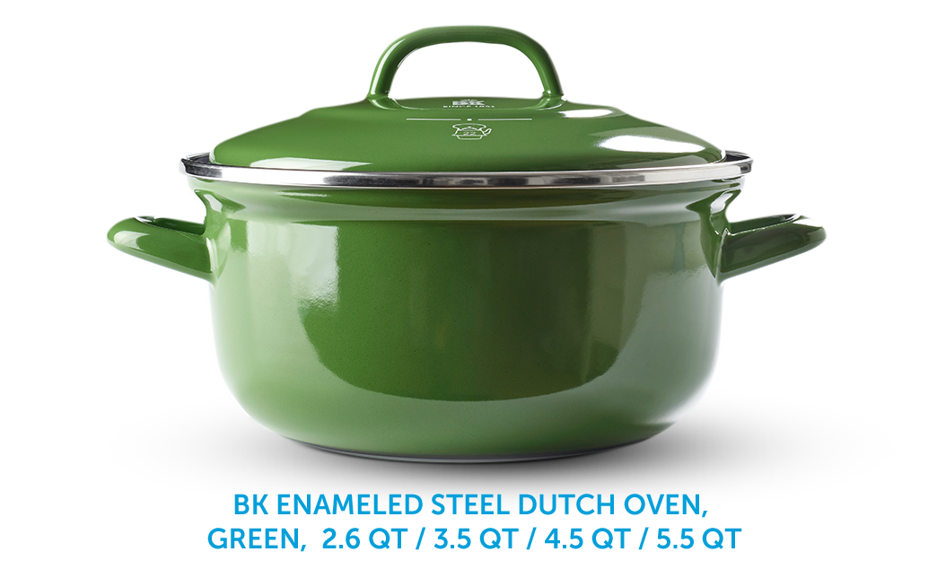 BK Enameld Steel Dutch Oven, Green