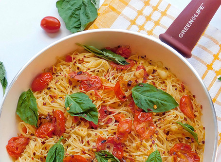 Light Tomato, Garlic and Basil Capellini Pasta