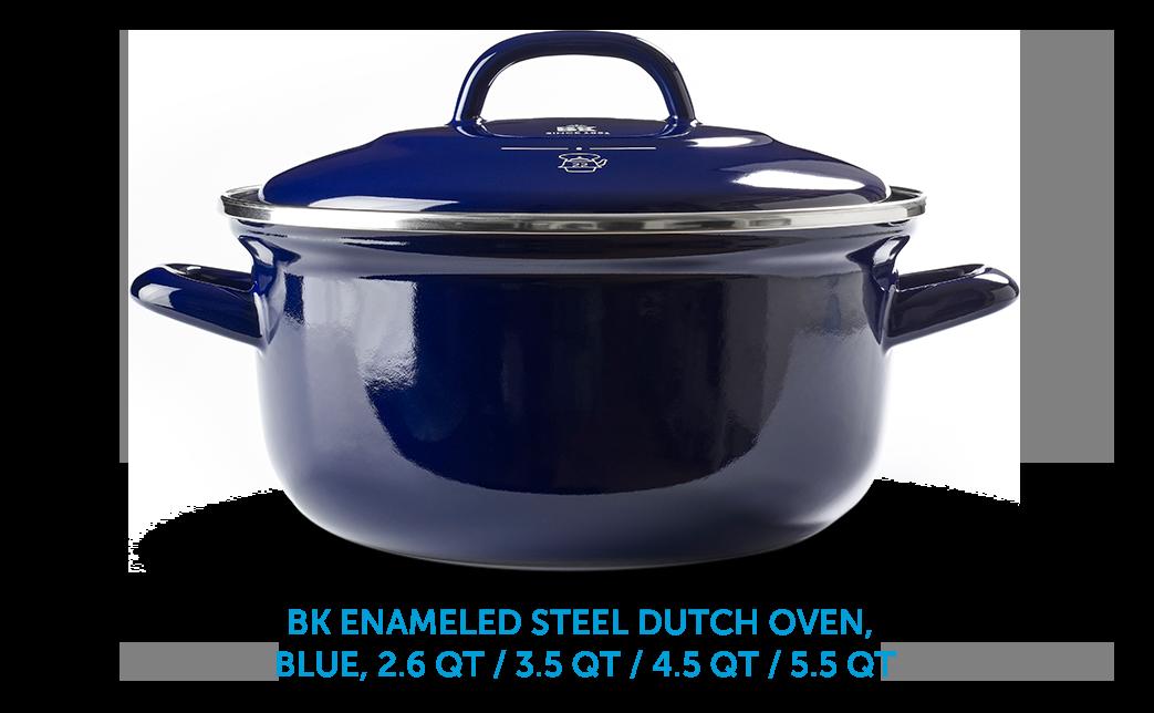 BK Enameld Steel Dutch Oven, Blue