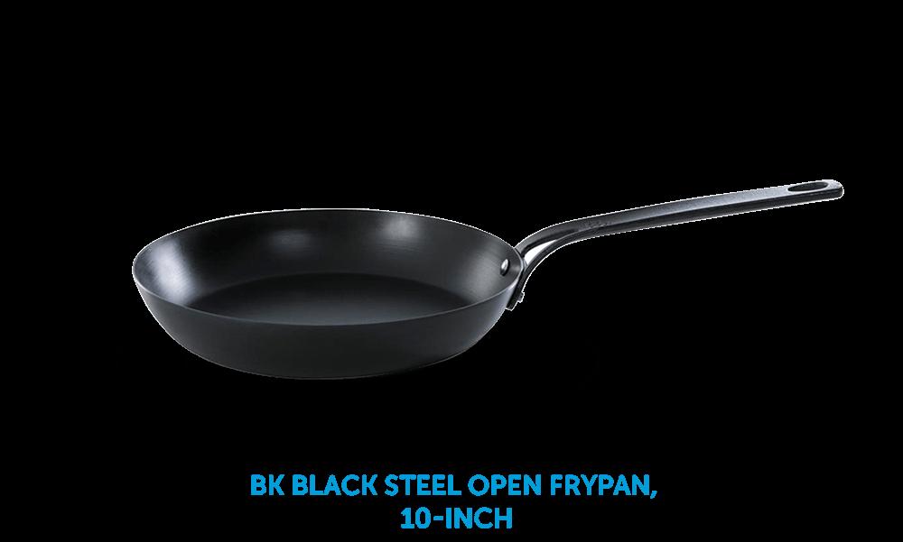 BK Black Steel Open Frypan 10-Inch