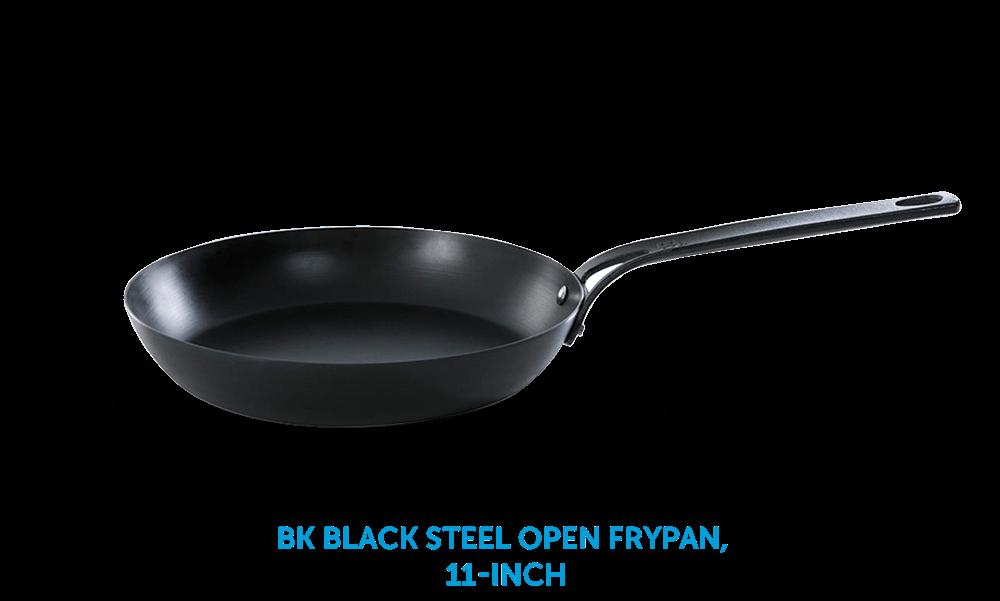 BK Black Steel Open Frypan 11-Inch