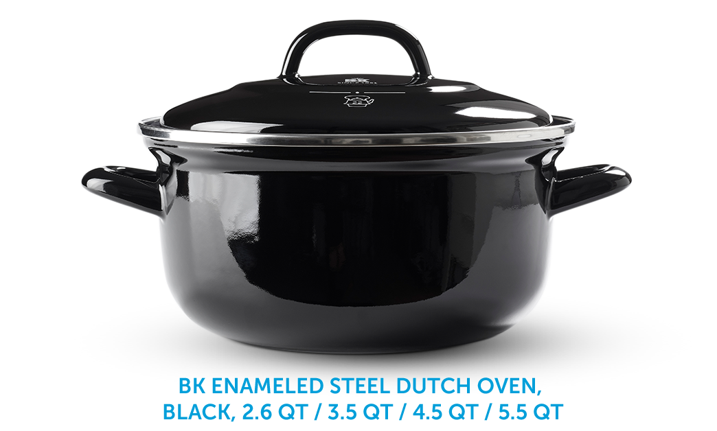 BK Enameld Steel Dutch Oven, Black