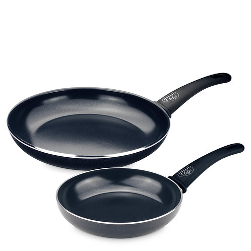 Soft Grip Diamond Reinforced Ceramic Nonstick 7 and 10-Inch Frypan Set