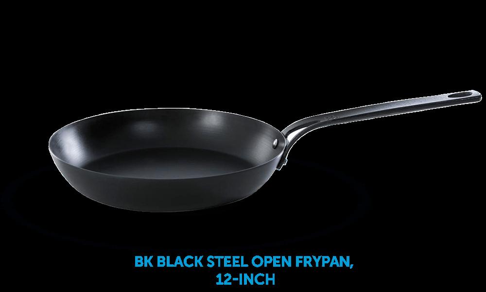 BK Black Steel Open Frypan 12-Inch