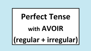 The perfect tense with AVOIR