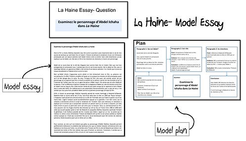 La Haine- Model Essay- Abdel Ichaha