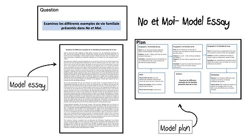 No et Moi- Model Essay- Vies familiales