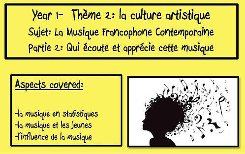 La musique francophone contemporaine- Part 2