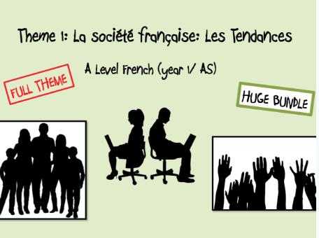 Year 1- Theme 1: Les Tendances