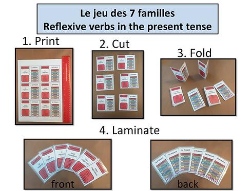 7 familles: Reflexive Verbs/ Present Tense
