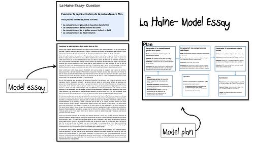 La Haine- Model Essay- Représentation de la police