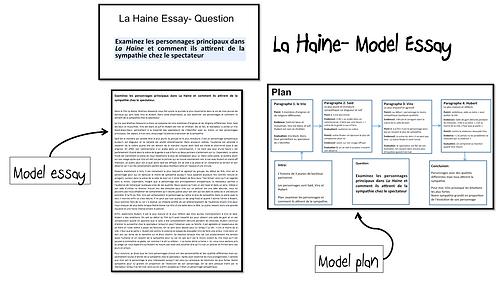 La Haine- Model Essay- Sympathie pour les personnages
