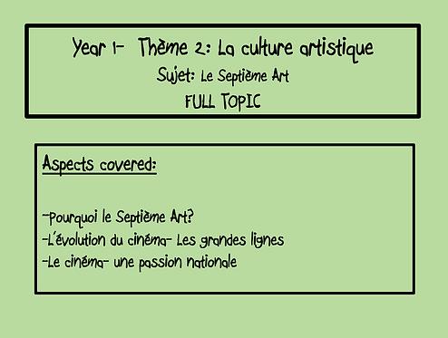 Le Septième Art- FULL TOPIC