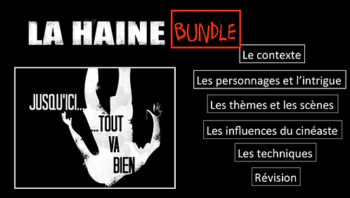 La Haine- Film Study- BUNDLE