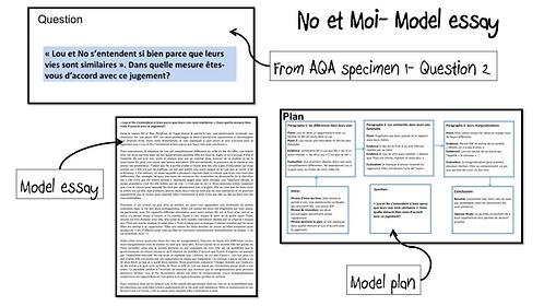 No et Moi- Model Essay- Lou et No: vies similaires