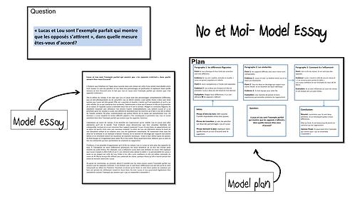 No et Moi- Model Essay- Lou et Lucas