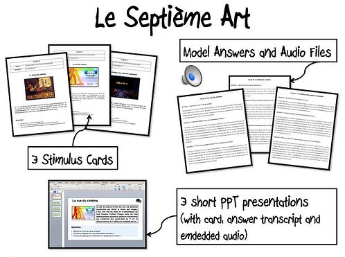 Le septième art-Stimulus Cards/ Model Answers and Au