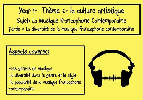 La musique francophone contemporaine- Part 1