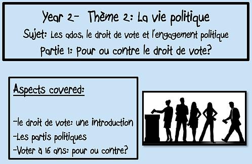Ados, droit de vote et engagement politique- Part 1