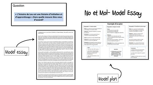 No et Moi- Model Essay- Initiation et Apprentissage