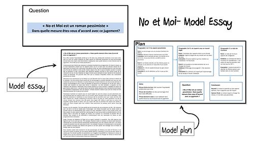 No et Moi- Model Essay- Roman pessimiste