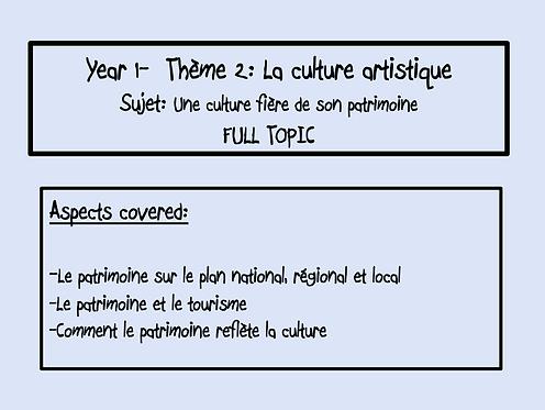 Une culture fière de son héritage- FULL TOPIC