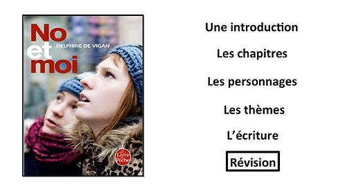 No et Moi: Revision/ Summary Sheets
