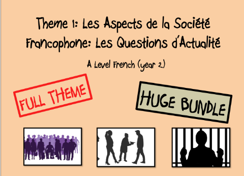 Year 2- Theme 1: Les Questions d'Actualité