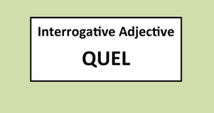 Interrogative Adjective: QUEL